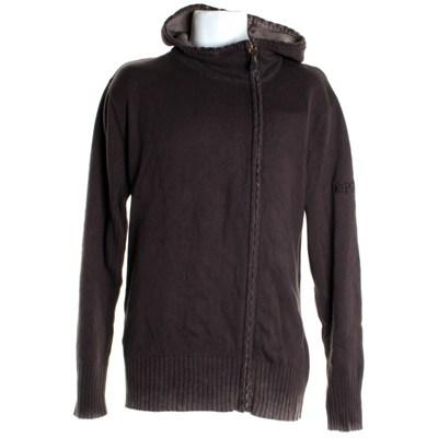 Cordoba Zip Crew Hoody Sweater - Raven Brown