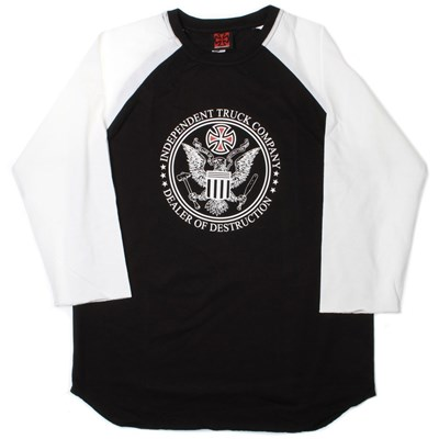 D.O.D. Seal 3/4 Sleeve T-Shirt - Black/White