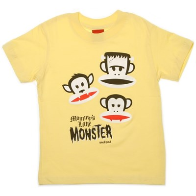 Julius Monsters Kids S/S Tee - Yellow