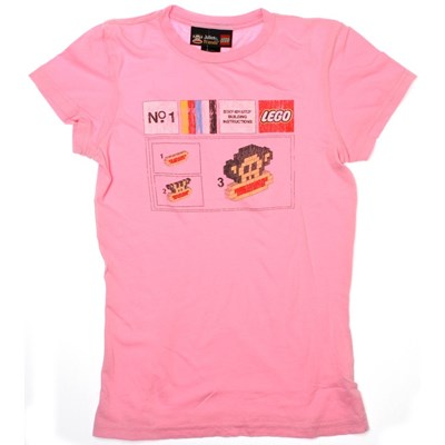 Lego Build S/S Tee - Pink