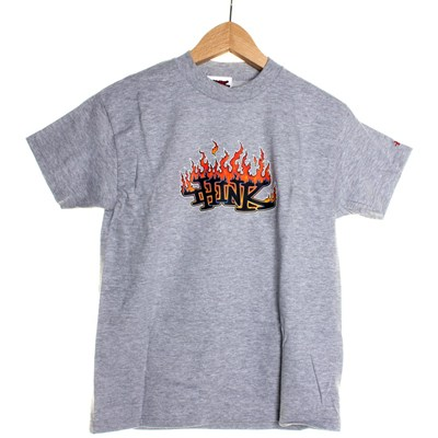 Flame Logo Youths S/S T-Shirt - Heather Grey