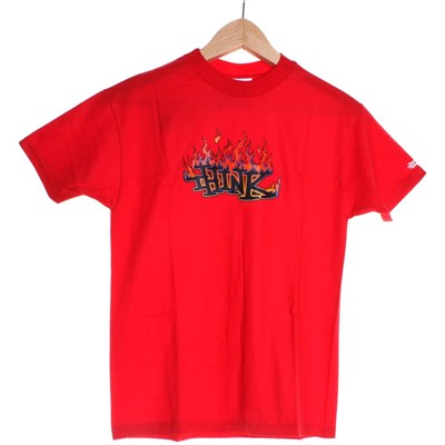 Flame Logo Youths S/S T-Shirt - Red