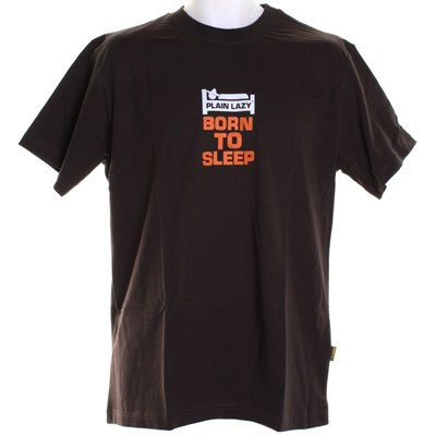 Born to Sleep S/S T-Shirt - Dark Chocolate