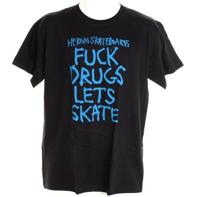 Fuck Drugs S/S T-Shirt - Black/Blue