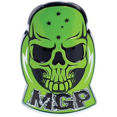 MGP Headtube  Skull Logo Badge - Green