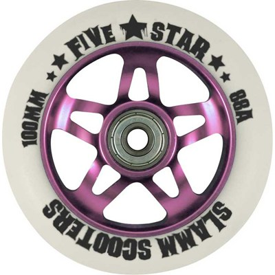 5 Star Alloy Core Scooter Wheel and Bearings - Pink