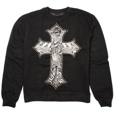 Franco Rise Above Crew - Charcoal Heather