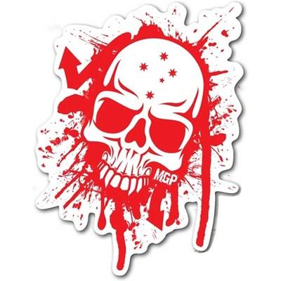 MGP Red & White Skull Sticker
