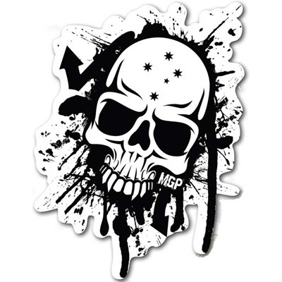 MGP Black & White Skull Sticker