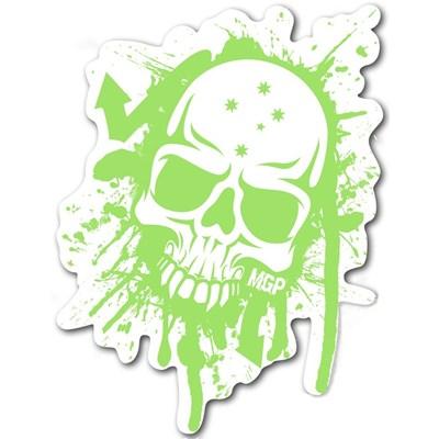 MGP Green & White Skull Sticker