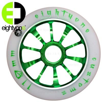 110mm alloy core wheel - Green