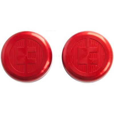 81 Customs Bar End/Overcaps - Red