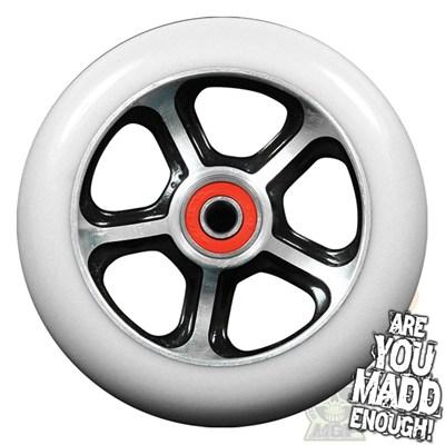 DDAM CFA 110mm Scooter Wheel Including Bearings - Black/White