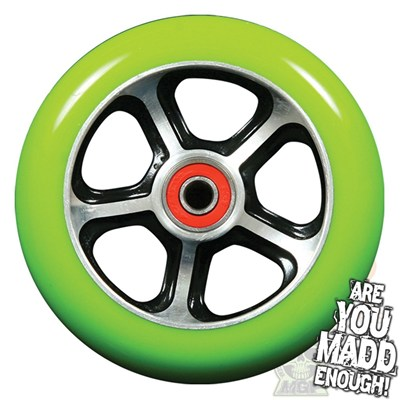 DDAM CFA 110mm Scooter Wheel Including Bearings - Black/Green