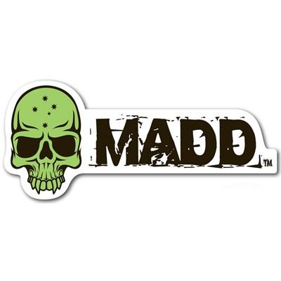 MGP Green Skull Madd Sticker