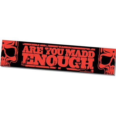 MGP Banner - Are you Madd Enough - Red - 130cm x 30cm