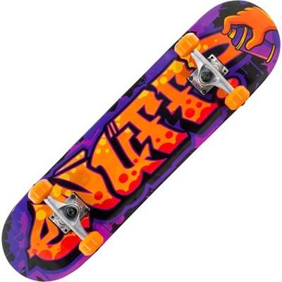Graffiti II Orange 7.5inch Mini Complete Skateboard