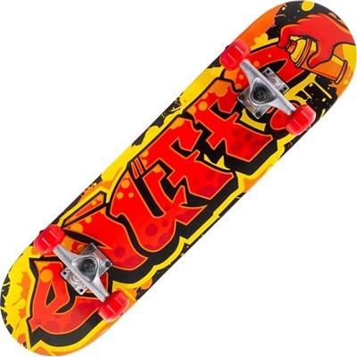 Graffiti II Red 7.5inch Mini Complete Skateboard