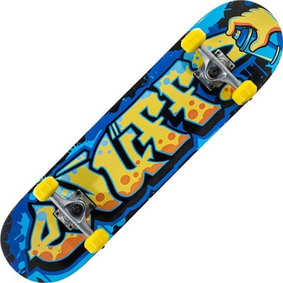 Graffiti II Yellow 7.5inch Mini Complete Skateboard