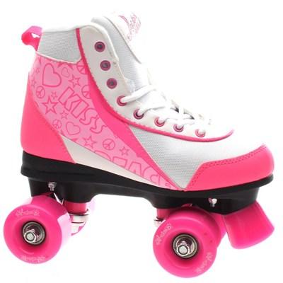 Retro Quad Roller Skates - Strawberry Kisses