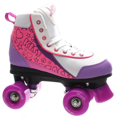 Retro Quad Roller Skates - Purple Punch