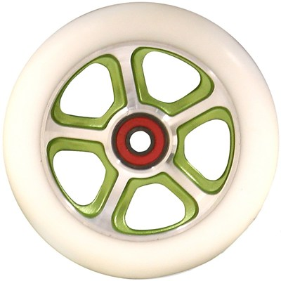 CF Filth 110mm Scooter Wheels Including Bearings - Green/White