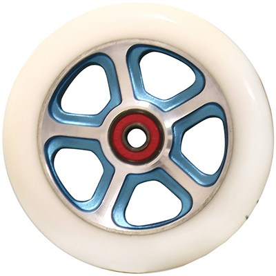 CF Filth 110mm Scooter Wheels Including Bearings - Blue/White