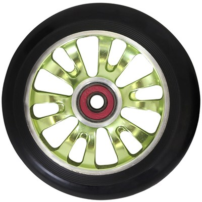 Vicious Extruded CNC 110mm Scooter Wheel Including Bearings - Green/Black