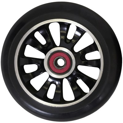 Vicious Extruded CNC 110mm Scooter Wheel Including Bearings - Black/Black
