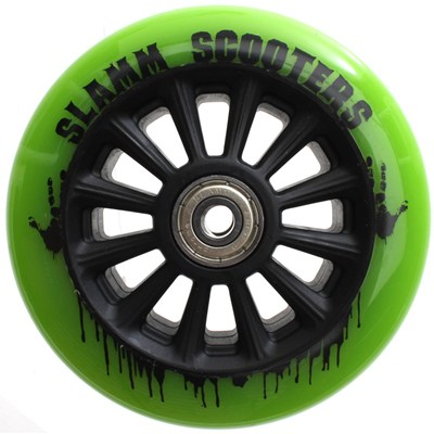 Nylon Core 110mm Scooter Wheel and Bearings - Green