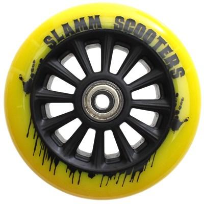 Nylon Core 110mm Scooter Wheel and Bearings - Yellow
