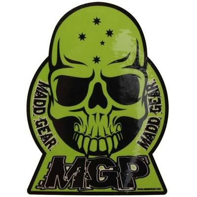 Green MGP Skull Sticker