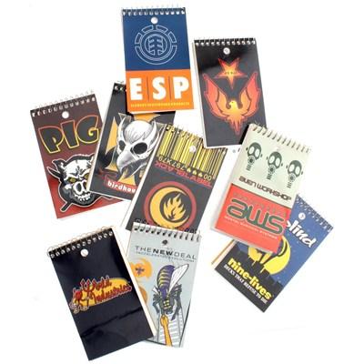 Skateboard Notepad - Various Brands