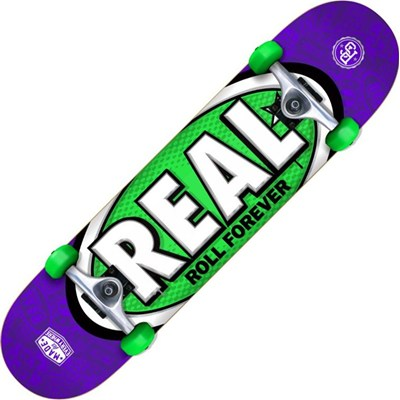 Oval Tones SM Purple/Green Complete Skateboard