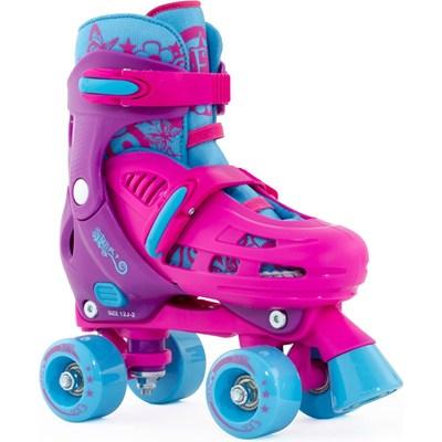 Hurricane Pink/Purple Quad Roller Skates