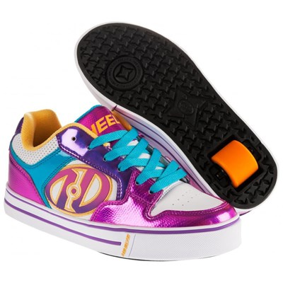 Motion Plus White/Fuschia/Multi Heely Shoe