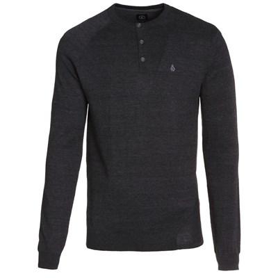 Understated Henley Sweater - Black