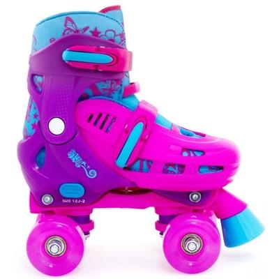 Lightning Hurricane Pink/Purple Quad Roller Skates