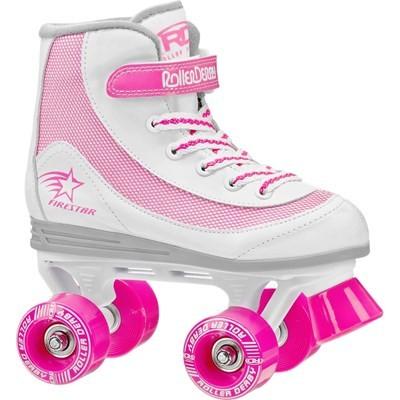 Firestar V2.0 White/Pink Quad Roller Skates