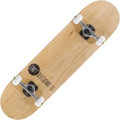 Logo Stain Natural 8inch Complete Skateboard