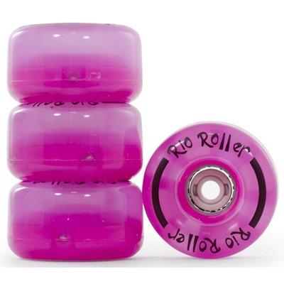 Light Up Quad Roller Skate Wheels- Pink Frost