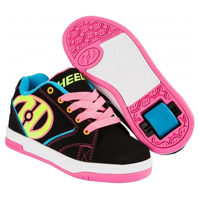 Propel 2.0 Black/Neon Multi Kids Heely Shoe