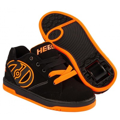 Propel 2.0 Black/Orange Kids Heely Shoe