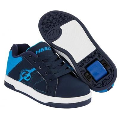 Split Navy/Blue Kids Heely Shoe