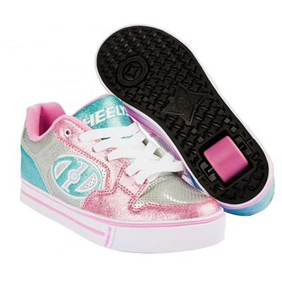 Motion Plus Silver/Light Pink/Light Blue Heely Shoe