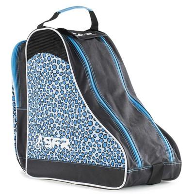 Designer Ice/Roller Skate Carry Bag - Blue Leopard