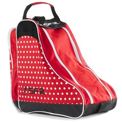 Designer Ice/Roller Skate Carry Bag - Red Polka