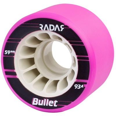 Bullet 59mm/93a Roller Derby Skate Wheels- Neon Purple
