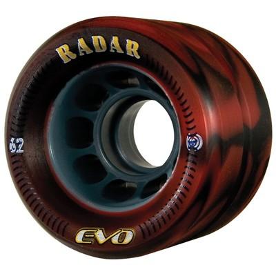 Evo 62mm Roller Derby Skate Wheels- Red/Black