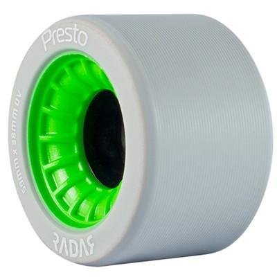 Presto 59mm/99a Roller Skate Wheels- Grey/Green